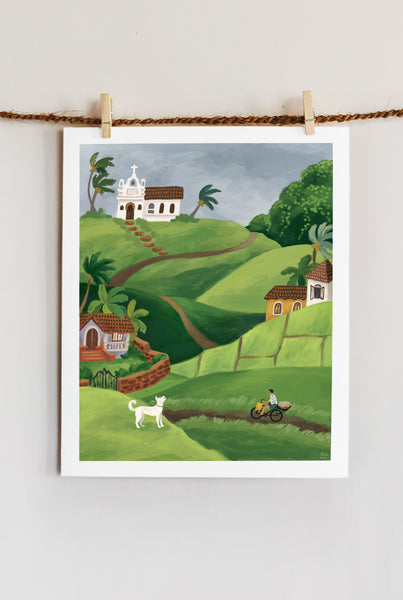 JULY IN GOA ART PRINT