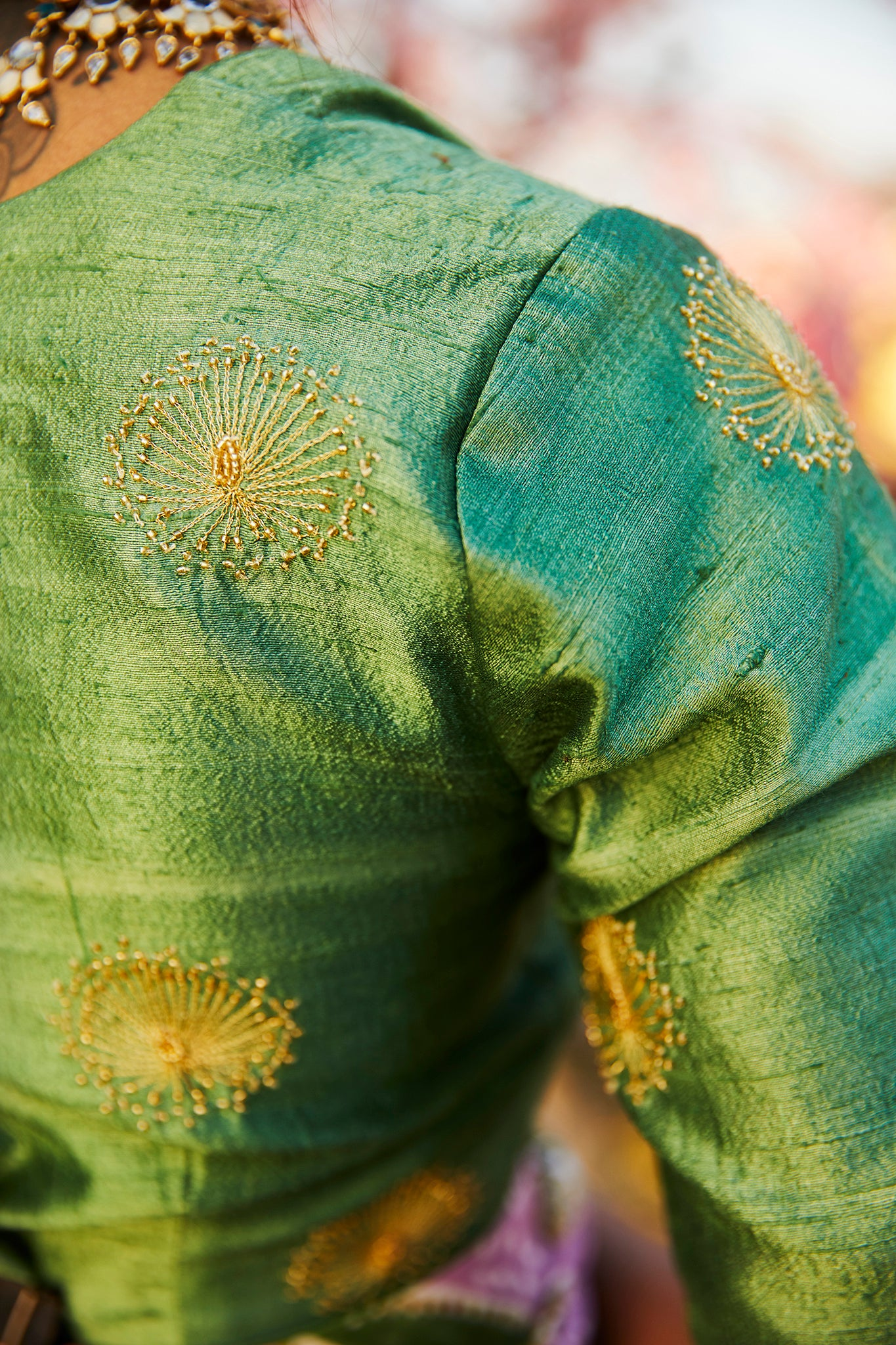 GULDASTA RAW SILK BLOUSE