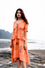 PUMPKIN ORANGE THIMPU DRESS
