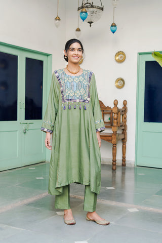THE AFGHANI KURTA SET