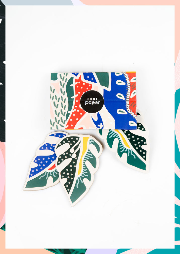 LUSH LEAF COASTER SET