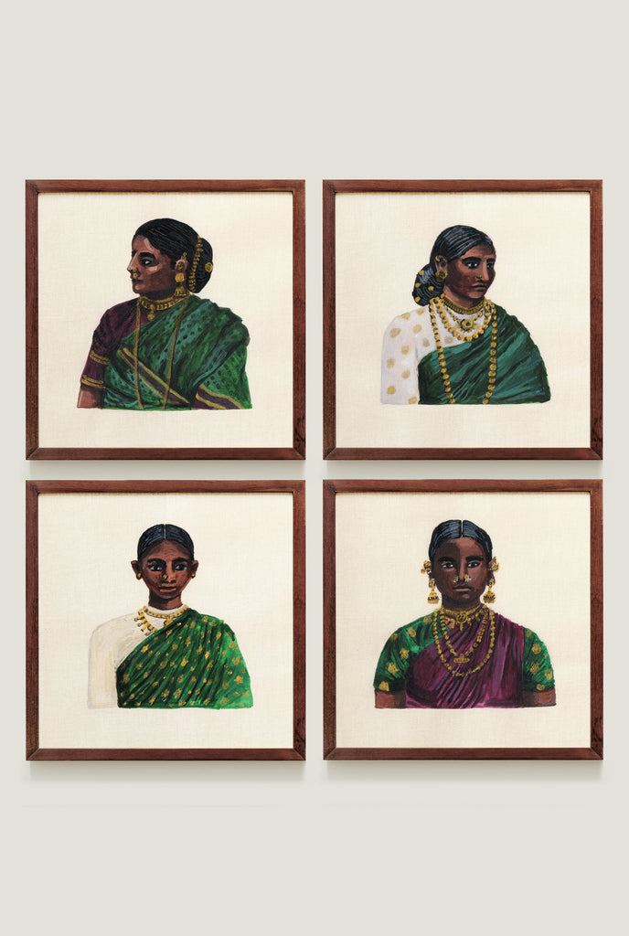 WOMEN OF CEYLON SET 1 ART PRINT