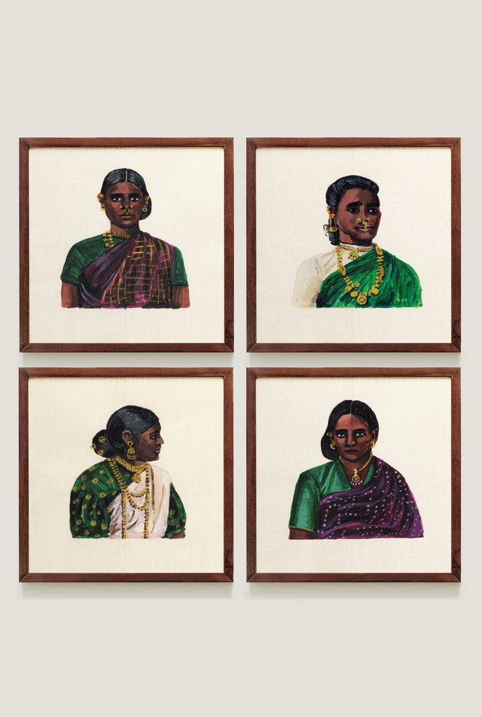 WOMEN OF CEYLON SET 2 ART PRINT