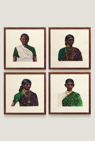 WOMEN OF CEYLON SET 3 ART PRINT