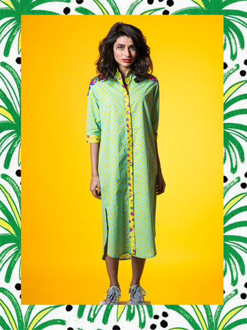 Lemon Green Maxi Kurta