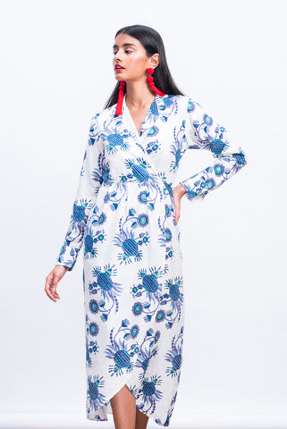 nori take wrap dress
