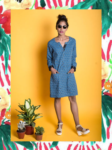 Denim Kite Shift Dress
