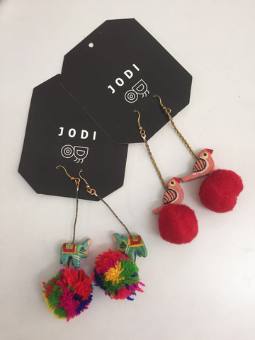 Pom-Pom Earrings