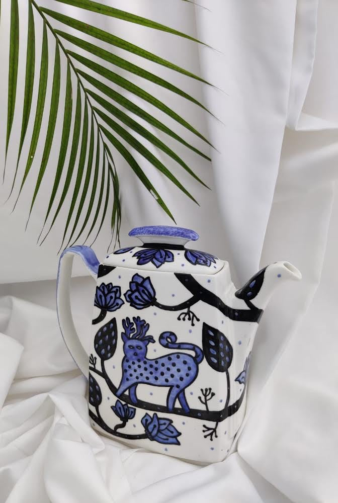 JODI HAND PAINTED GONDH TEA POT
