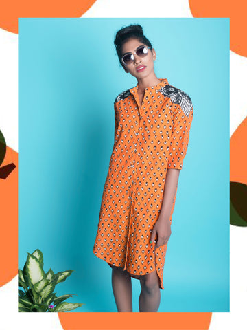 Pumpkin Kite Kurta Dress
