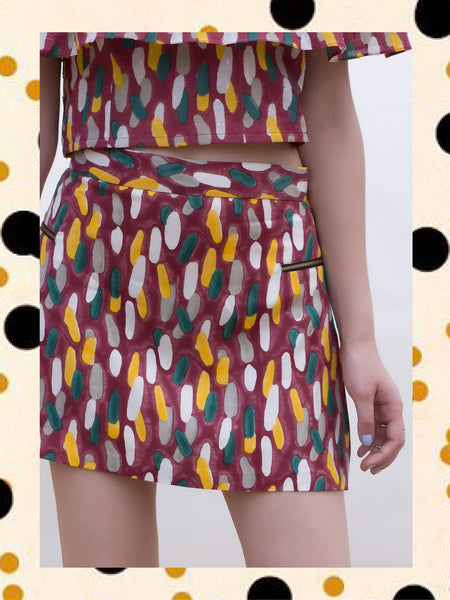 Rosewood 70s Mini Skirt
