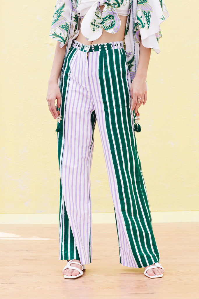 BARDOT EMBROIDERED TROUSER