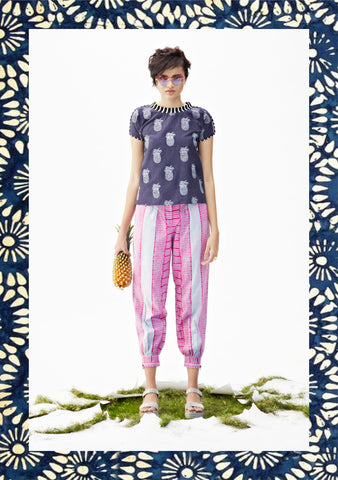 Pink & Blue Peg Trousers