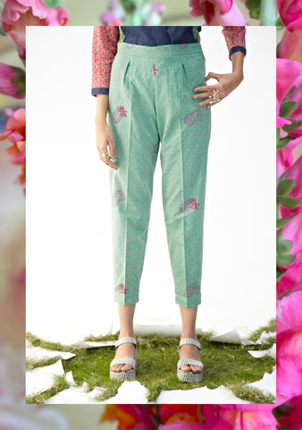 Pineapple Sea Green Pegged Trousers