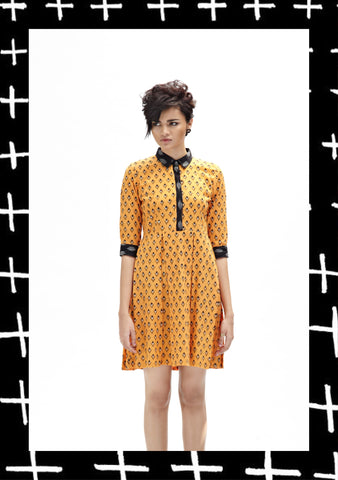 Citrus Kite Shirt Dress