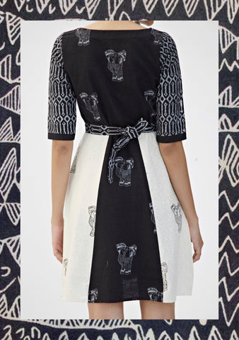 Monochrome Elephant Dress