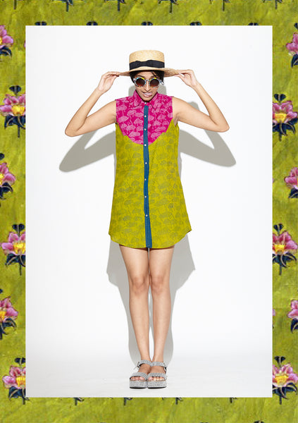 Avocado and Plum Patchwork Cloud Tunic