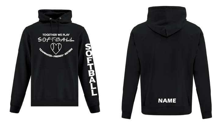 Custom Softball Fleece Hoodie