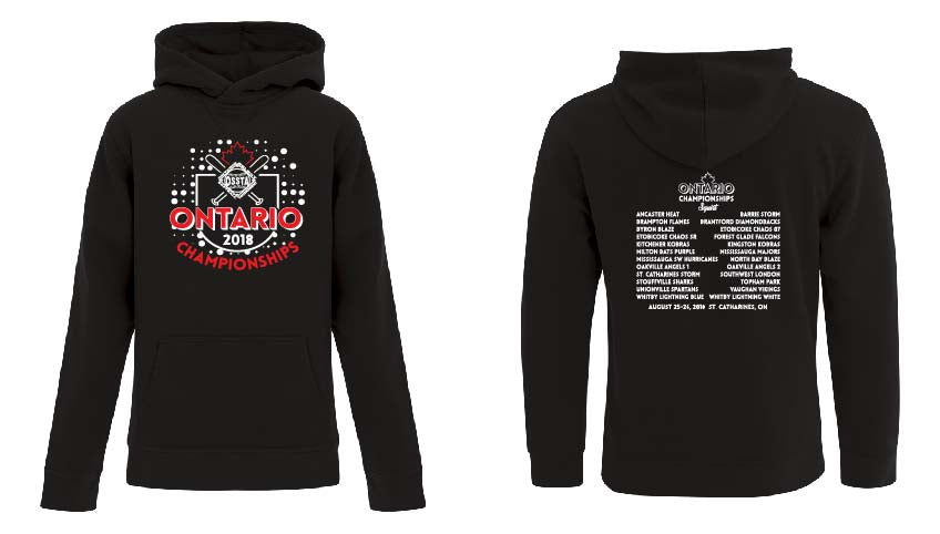OSSTA PROVINCIALS SOFTBALL EVENT FLEECE HOODIE YOUTH