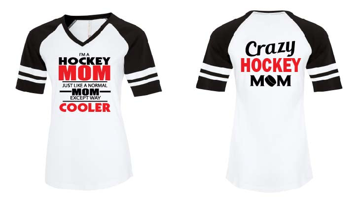 Custom Ladies Hockey VNeck Tshirt
