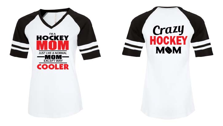 Custom Ladies Softball VNeck Tshirt