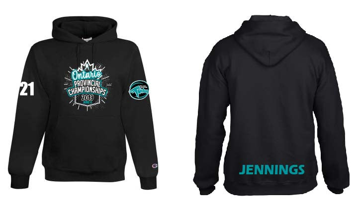 2019 Twisters Provincial Champion Fleece Hoodie