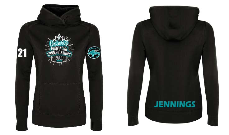 2019 Twisters Provincial Ladies Tech Hoodie
