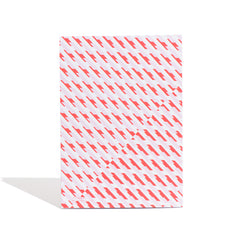 Conceal A4 notebook designed by Laura Spring. Not The Kind gift shop. BACK cover in pink and red