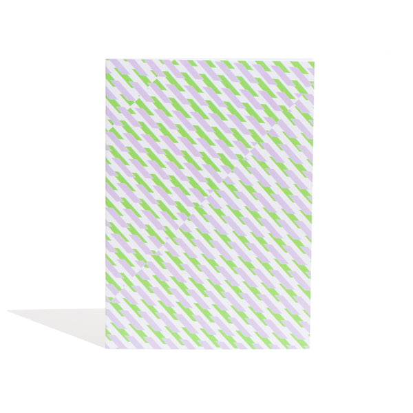 'Conceal' Notebook in Green + Purple