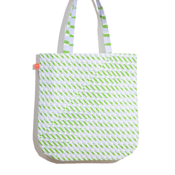 'Conceal' Printed Shopper in Green + Purple