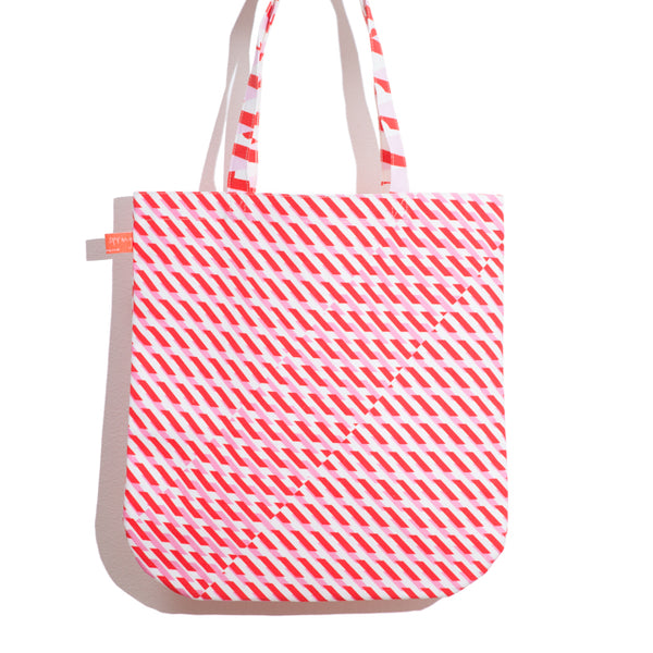 'Conceal' Printed Shopper in Red + Pink