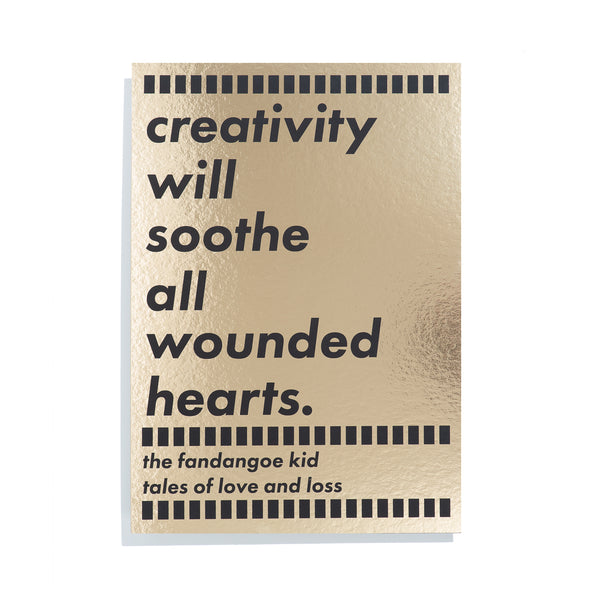 A3 Gold Shimmer 'Creativity' Print