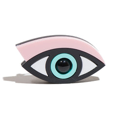Easy on the Eye brooch in pastel pink perspex designed by Jennifer Loiselle - Not The Kind Gift Shop
