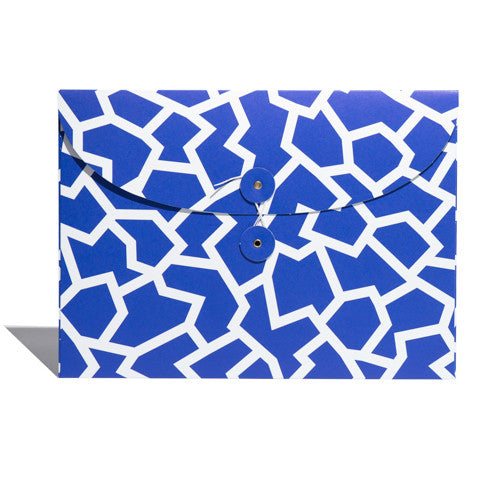 Envelope Organiser in Blue Fracture