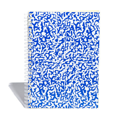 Hardcover Notebook in Blue Ripple