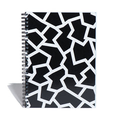 Hardcover Notebook in Black Fracture