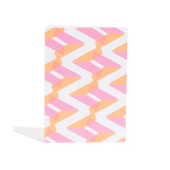 A5 Naomi Notebook designed by Laura Spring. Not The Kind gift shop. BACK cover in pink + orange.