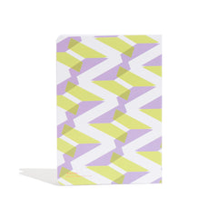 A5 Naomi Notebook designed by Laura Spring. Not The Kind gift shop. BACK cover in green + purple.
