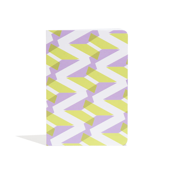 'Naomi' A5 Notebook in Green + Purple