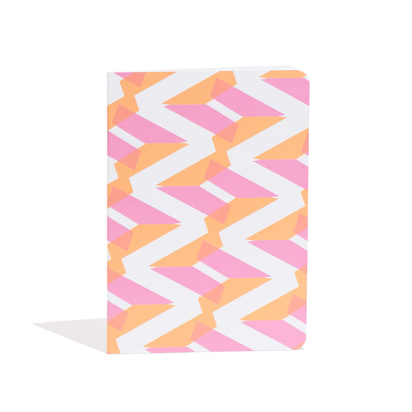 A5 'Naomi' Notebook in Pink + Orange