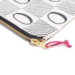 Black Checkerboard Zip Pouch