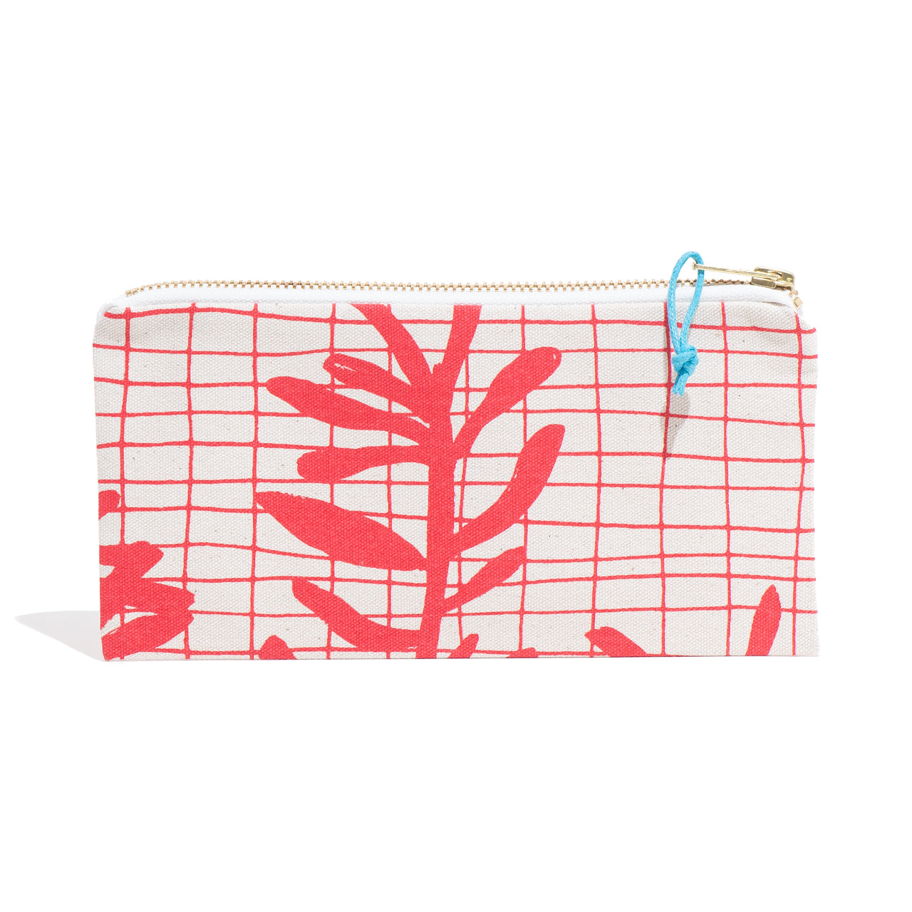 Red Sprig Zip Pouch