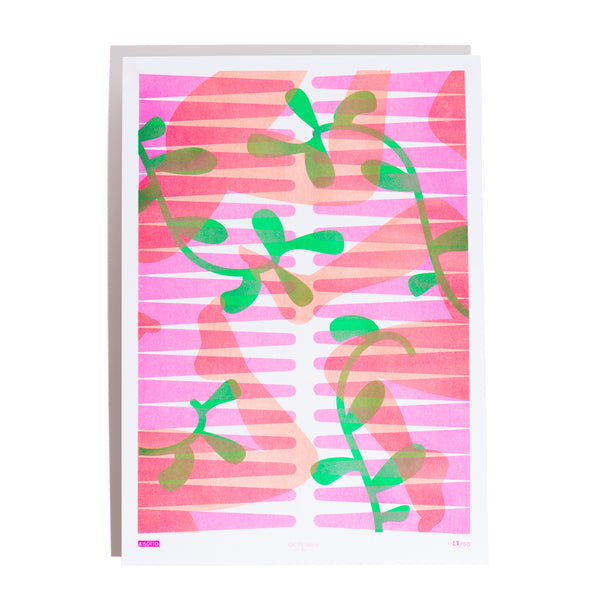 Limited Edition Botanical Riso Print
