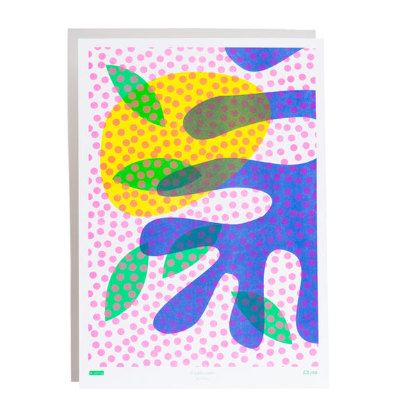 Limited Edition Spot Riso Print