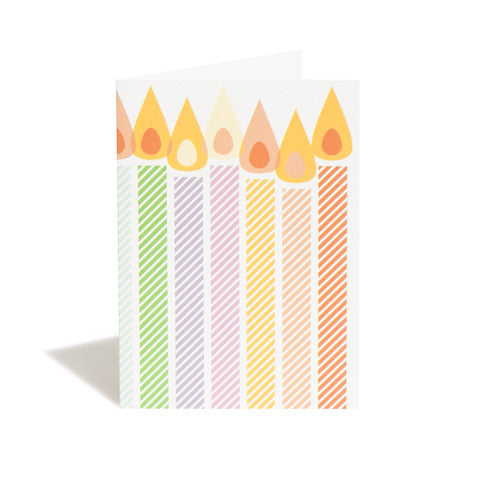 Candles Greetings Card
