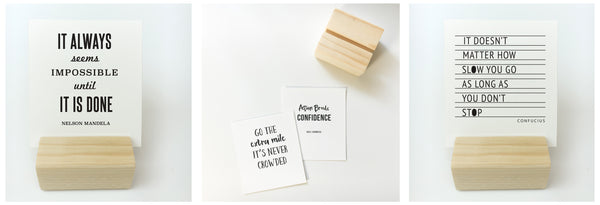 Wood Block + Entrepreneur Quote Print Collection
