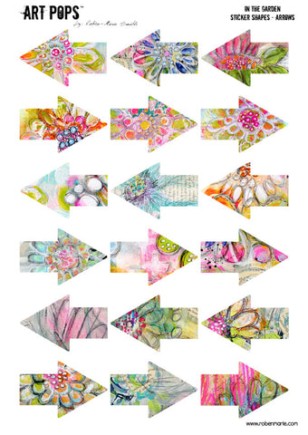 ART POPS™ Sticker Arrows - In the Garden Collection