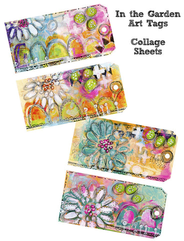 In the Garden Art Tags - Collage Sheets