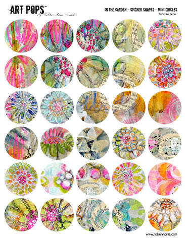 ART POPS™ Sticker Shapes Mini Circles - In the Garden Collection
