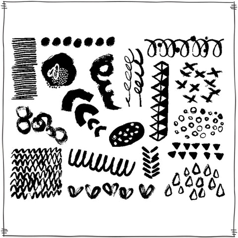 INKed Rubber Stamp Sheet